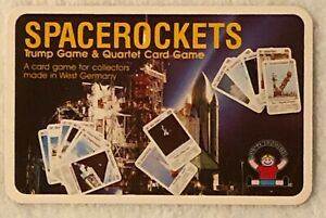 SpaceRockets Trump & Quartet Card Game, Discovery Toys, West Germany 1984