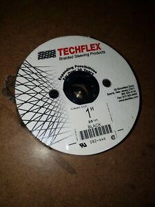Techflex 1 Inch Flexo Clean Cut Braided Cable Sleeve - Black - 25 Feet