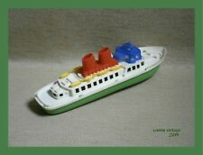 Ship Boat New no Box Green-White Hard Plastic Vintage Rare GREEK MADE IN GREECE