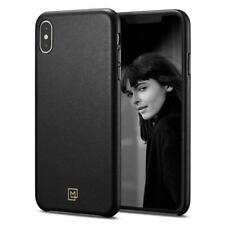 "Spigen iPhone XS Max (6.5"") Case La Manon câlin Chic Black (Leather Case)"