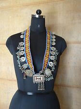 Tribal Belly Dance necklace with coins kuchi afghan ats boho gypsy jewelry 1367