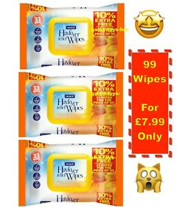 33 Wipes NUAGE HAYFEVER RELIEF HAND & FACE WIPES 30 POLLEN DUST & PET ALLERGENS