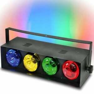 QTX 4 Channel Lighting Effect Retro Box Light R80 Refector Lamps 70s 80s Disco