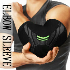 Elastic Elbow Support Compression Brace Arm Guards Gym Basketball Sports Sleeve