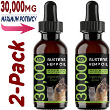 Busters Hemp Oil for Dogs and Cats + Other Warm Blooded Pets - 30000mg 2 Pack