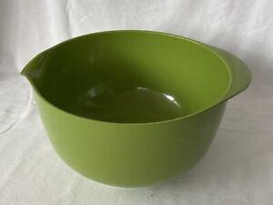 Vintage Retro Rosti Large 4L Mixing Bowl Green Danish Melamine - Made in Denmark