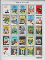Tintin MS's & Anniversary Sheet, Belgium. Perf & Imperf. Select what you want...