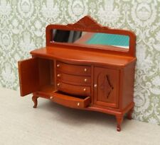DOLLS HOUSE 1/12th  QUALITY SIDEBOARD OR BUFFET TABLE IN LIGHT BROWN MAHOGANY