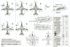 HI Decal 1/72 Mikoyan MiG-23/27B/N Flogger B/N # 72017