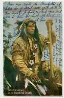 Indian , Hiawatha Drama Canada Private Postcard to Grammont  Belgium 1906