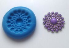 Vintage Brooch Button 13 Silicone Mould Cupcake Cake Decorating, Sugarcraft Mold