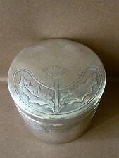 boite, métal argenté, décor fleur de chardon, Art nouveau, AJD Aimé Jean Duret