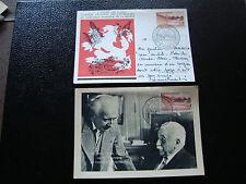 FRANCIA - 2 schede 1958 francobollo yt n° 1124 obliterati - stamp french (cy10)
