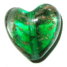4 pcs Lampwork Heart Glass Beads - 20mm - A4018
