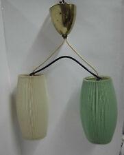 50er 60er plisseelampe Suspensions Lampe de cuisine milieu Century 50s 60s