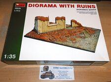WWII für Dioramenbau Diorama mit Ruine  1:35 MiniArt 36039   Neu