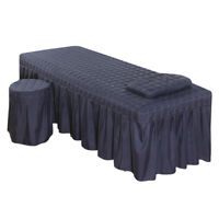 MagiDeal Massage Table Skirt Bed Valance Sheet Beddings Home Supplies Blue 2