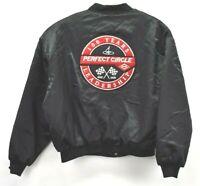 Vintage Swingster Men's 2XL Black DANA 100 YR Perfect Circle Bomber Jacket