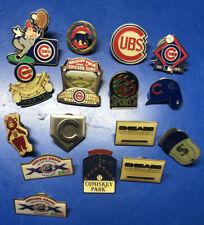 Vintage Chicago Cubs LAPEL/HAT PIN LOT + White Sox Pins Bulls Pins Bears Pin Lot