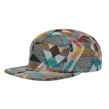 Men's Jacquard 5 Panel Hat Cap Geo Navajo Aztec Camper Adjustable Strap back