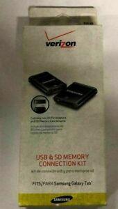 Verizon USB & SD Memory Connection Kit for SAmsung Galaxy Tab - black