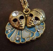 VINTAGE Art Nouveau Style, Enameled Necklace