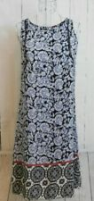 ATMOSPHERE Women's Black & White Floral Sleeveless Longline Tunic Top Size 12