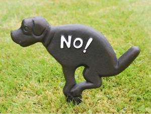 No Fouling Dog Sign Vintage Cast Iron Metal Spike Garden Sign Plaque