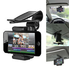 Car Sun Visor Mount Stand Holder Bracket For iPhone 6/6 Plus 5 4 Cell Phones GPS