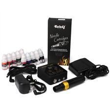 Tatuaje Kit Rotativa Maquina de Pluma para Tatuar con  Agujas Poder y Pedal