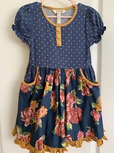 Size 4 Matilda Jane Joanna Gaines You Belong Dress Floral Blue Yellow
