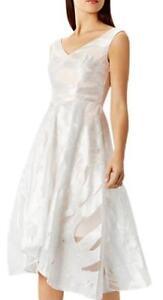 Coast-Pip Jacquard Midi Dress(Brand New with Tag)White & Silve—Size 12-RRP £169