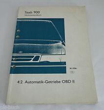 Werkstatthandbuch Saab 900 Getriebe Automatik-Getriebe OBD II ab Mj. 1996