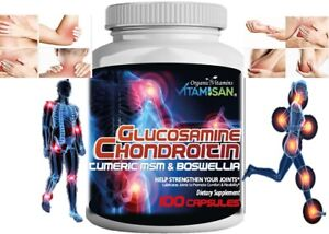 Triple Strength Flex Joint Glucosamine Chondroitin MSM collagen Arthritis
