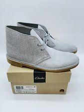 Clarks Men's Bushacre 2 Chukka Boots Slate Blue Suede US 11M / EUR 44.5