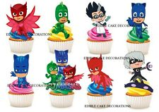 30 PJ MASKS STAND UP Edible Cupcake Fairy Cake Topper Edible Decoration birthday