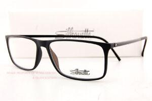 Brand New Silhouette Eyeglass Frames SPX Illusion 2892 6050 Black Size 56