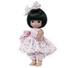 Precious Moments 12 Inch Doll, 'Bear-Foot Blessings', Brunette, New w/Tag, 4671