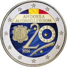 Andorra - 2 Euro 2014 - Beitritt zum Europa-Rat - Stempelglanz in Farbe