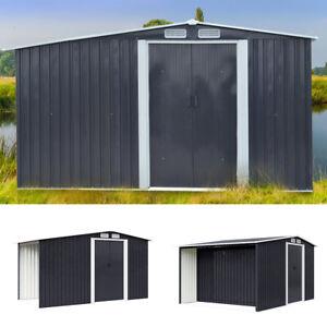 Garden Tool Shed Metal Outdoor Firewood Storage House Galvanised Steel Apex