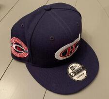 Montreal Canadiens 1909 Inaugural Seaon Blue Snapback Cap New Era NWT