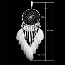 Mlsf-39 White Dream Catcher With Feathers And Seashell