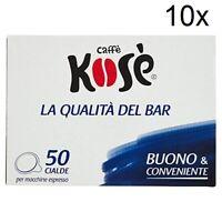 500x Kose Deciso Kimbo Kaffeepads Espresso ese Pads Kaffee Coffee  e.s.e. 44mm