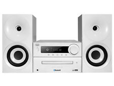 Trevi Hi Fi Stereo System CD MP3 USB FM Radio with Bluetooth White FREE DELIVERY