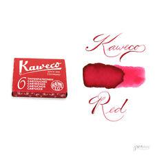 Pk/6 Kaweco Fountain Pen Ink Cartridges, Ruby Red