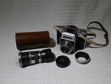 Vintage Agilux Agiflex Model III 6x6 SLR Camera & 80mm 1:2.8 & 24cm 1:5.5 Lenses