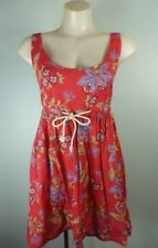 TIGERLILY cute red floral strappy back 100% Cotton beach Sundress sz 12