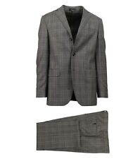 NWT CARUSO Gray Plaid Wool Blend 3 Roll 2 Button Classic Fit Suit 52/42 L Drop 6