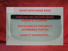 1959 1960 BUICK CADILLAC CHEVROLET OLDS PONTIAC SEDAN & WAGON WINDSHIELD GLASS