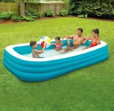 New 10 Ft Swimming Pool Fun Outdoors Play Day Rectangular Inflatable Family Kids